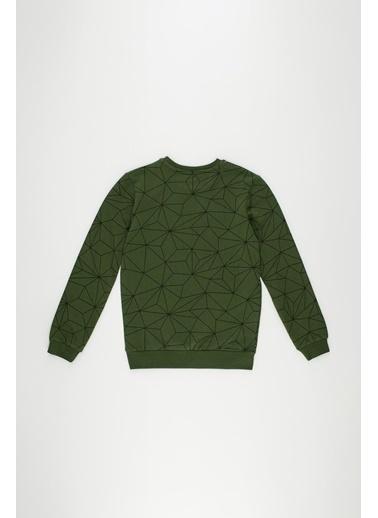 DeFacto Erkek Çocuk  Baskılı  Sweatshirt Yeşil